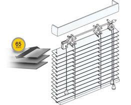 Żaluzje drewniane 65 mm drabinka sznurkowa