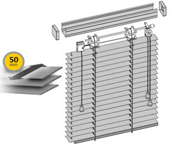 Żaluzje aluminiowe 50 mm