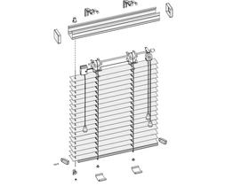Żaluzje aluminiowe 25 mm WYPRZEDAŻ -50% Wymiary 430x1385 Kolor Z 900