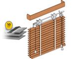 Żaluzje drewniane 50 mm drabinka taśmowa