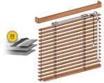 Żaluzje drewniane 25 mm drabinka sznurkowa