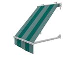 Markizy balkonowe zielone paski